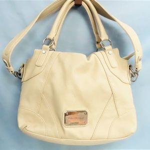 Cream Colored Messenger Bag By Dana Buchman